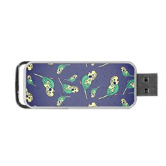 Canaries Budgie Pattern Bird Animals Cute Portable Usb Flash (one Side) by Mariart