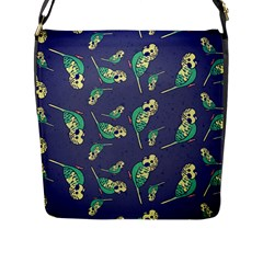 Canaries Budgie Pattern Bird Animals Cute Flap Messenger Bag (l)  by Mariart