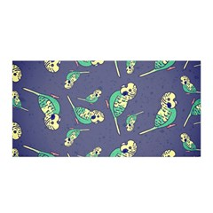 Canaries Budgie Pattern Bird Animals Cute Satin Wrap by Mariart
