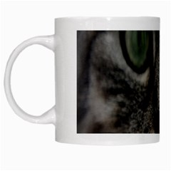 Cat Face Eyes Gray Fluffy Cute Animals White Mugs by Mariart