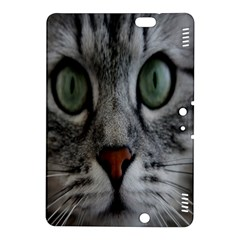 Cat Face Eyes Gray Fluffy Cute Animals Kindle Fire Hdx 8 9  Hardshell Case by Mariart