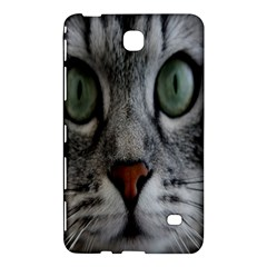 Cat Face Eyes Gray Fluffy Cute Animals Samsung Galaxy Tab 4 (8 ) Hardshell Case  by Mariart