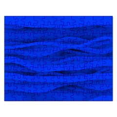 Dark Blue Stripes Seamless Rectangular Jigsaw Puzzl by Mariart
