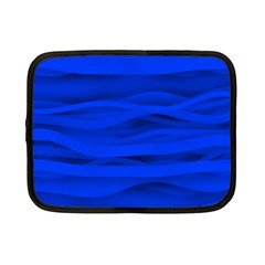 Dark Blue Stripes Seamless Netbook Case (small)  by Mariart