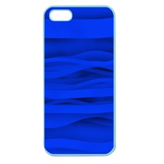 Dark Blue Stripes Seamless Apple Seamless Iphone 5 Case (color) by Mariart