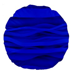 Dark Blue Stripes Seamless Large 18  Premium Round Cushions by Mariart