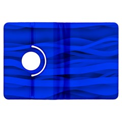 Dark Blue Stripes Seamless Kindle Fire Hdx Flip 360 Case by Mariart