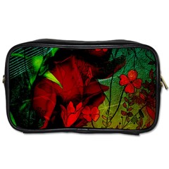 Flower Power, Wonderful Flowers, Vintage Design Toiletries Bags 2 Side by FantasyWorld7