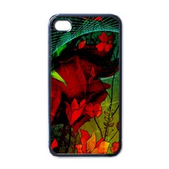 Flower Power, Wonderful Flowers, Vintage Design Apple Iphone 4 Case (black) by FantasyWorld7