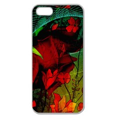 Flower Power, Wonderful Flowers, Vintage Design Apple Seamless Iphone 5 Case (clear) by FantasyWorld7