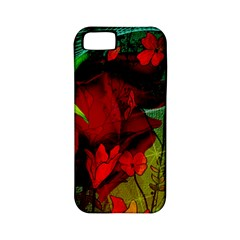 Flower Power, Wonderful Flowers, Vintage Design Apple Iphone 5 Classic Hardshell Case (pc+silicone) by FantasyWorld7