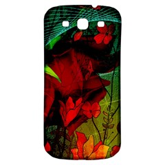 Flower Power, Wonderful Flowers, Vintage Design Samsung Galaxy S3 S Iii Classic Hardshell Back Case by FantasyWorld7