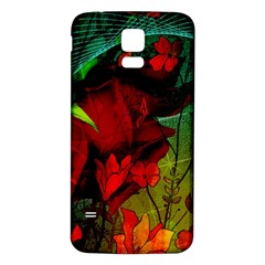 Flower Power, Wonderful Flowers, Vintage Design Samsung Galaxy S5 Back Case (white) by FantasyWorld7