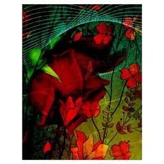 Flower Power, Wonderful Flowers, Vintage Design Drawstring Bag (large) by FantasyWorld7