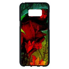 Flower Power, Wonderful Flowers, Vintage Design Samsung Galaxy S8 Plus Black Seamless Case by FantasyWorld7