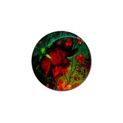 Flower Power, Wonderful Flowers, Vintage Design Golf Ball Marker by FantasyWorld7