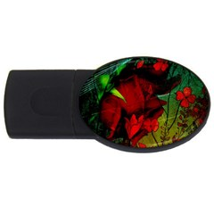 Flower Power, Wonderful Flowers, Vintage Design Usb Flash Drive Oval (2 Gb) by FantasyWorld7