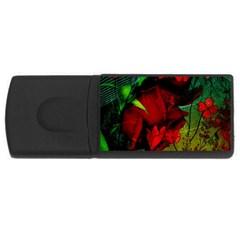 Flower Power, Wonderful Flowers, Vintage Design Rectangular Usb Flash Drive by FantasyWorld7