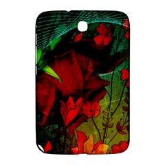 Flower Power, Wonderful Flowers, Vintage Design Samsung Galaxy Note 8 0 N5100 Hardshell Case  by FantasyWorld7