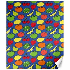 Fruit Melon Cherry Apple Strawberry Banana Apple Canvas 20  X 24   by Mariart