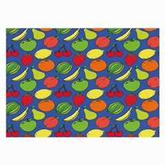 Fruit Melon Cherry Apple Strawberry Banana Apple Large Glasses Cloth by Mariart