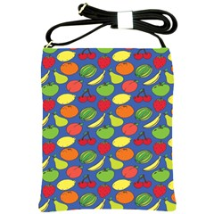 Fruit Melon Cherry Apple Strawberry Banana Apple Shoulder Sling Bags by Mariart