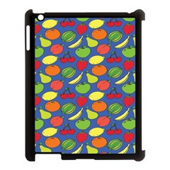 Fruit Melon Cherry Apple Strawberry Banana Apple Apple Ipad 3/4 Case (black) by Mariart