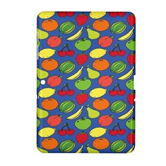 Fruit Melon Cherry Apple Strawberry Banana Apple Samsung Galaxy Tab 2 (10 1 ) P5100 Hardshell Case  by Mariart