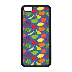 Fruit Melon Cherry Apple Strawberry Banana Apple Apple Iphone 5c Seamless Case (black) by Mariart