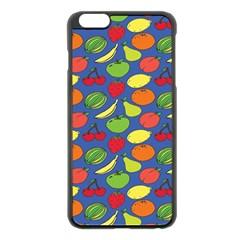 Fruit Melon Cherry Apple Strawberry Banana Apple Apple Iphone 6 Plus/6s Plus Black Enamel Case by Mariart