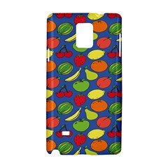 Fruit Melon Cherry Apple Strawberry Banana Apple Samsung Galaxy Note 4 Hardshell Case by Mariart