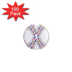 Free Symbol Hands 1  Mini Magnets (100 Pack)  by Mariart
