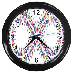 Free Symbol Hands Wall Clocks (black) by Mariart