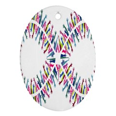 Free Symbol Hands Oval Ornament (two Sides) by Mariart