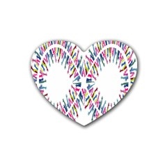 Free Symbol Hands Heart Coaster (4 Pack)  by Mariart