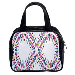 Free Symbol Hands Classic Handbags (2 Sides) by Mariart