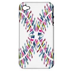 Free Symbol Hands Apple Iphone 4/4s Hardshell Case (pc+silicone) by Mariart