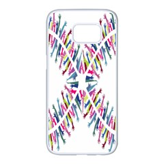 Free Symbol Hands Samsung Galaxy S7 Edge White Seamless Case by Mariart