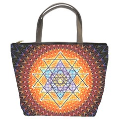 Cosmik Triangle Space Rainbow Light Blue Gold Orange Bucket Bags by Mariart