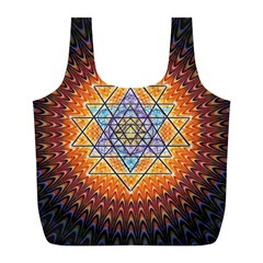 Cosmik Triangle Space Rainbow Light Blue Gold Orange Full Print Recycle Bags (l)  by Mariart