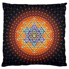 Cosmik Triangle Space Rainbow Light Blue Gold Orange Standard Flano Cushion Case (one Side) by Mariart