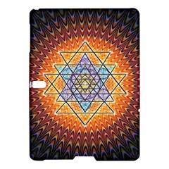 Cosmik Triangle Space Rainbow Light Blue Gold Orange Samsung Galaxy Tab S (10 5 ) Hardshell Case  by Mariart