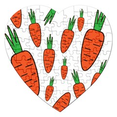 Fruit Vegetable Carrots Jigsaw Puzzle (heart) by Mariart