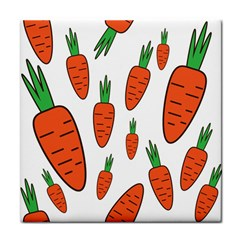 Fruit Vegetable Carrots Face Towel by Mariart