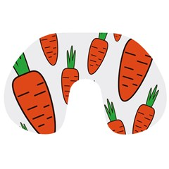 Fruit Vegetable Carrots Travel Neck Pillows by Mariart