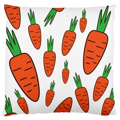 Fruit Vegetable Carrots Large Flano Cushion Case (one Side) by Mariart