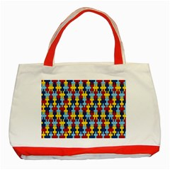 Fuzzle Red Blue Yellow Colorful Classic Tote Bag (red) by Mariart