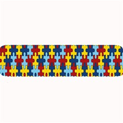 Fuzzle Red Blue Yellow Colorful Large Bar Mats by Mariart