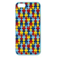 Fuzzle Red Blue Yellow Colorful Apple Seamless Iphone 5 Case (color) by Mariart