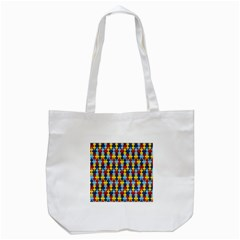 Fuzzle Red Blue Yellow Colorful Tote Bag (white) by Mariart